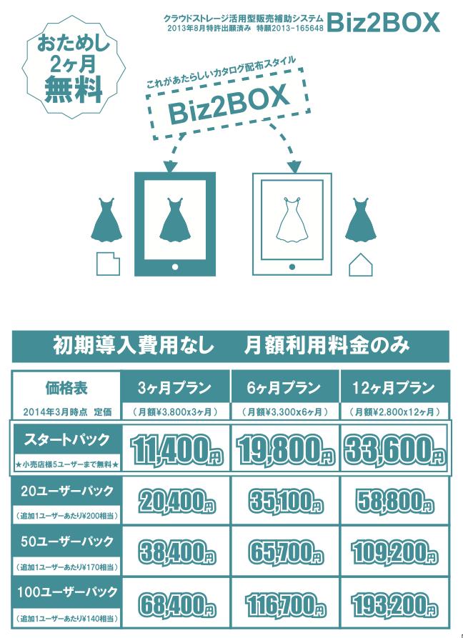 Biz2BOX価格表